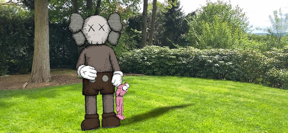 SHARE – AR drawing by KAWS outside our home