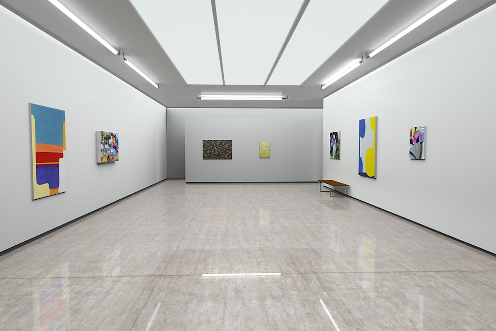Works by Wilhelm Beermann, Raphael Brunk, Bernhard Adams, Carolin Israel (from left to right)