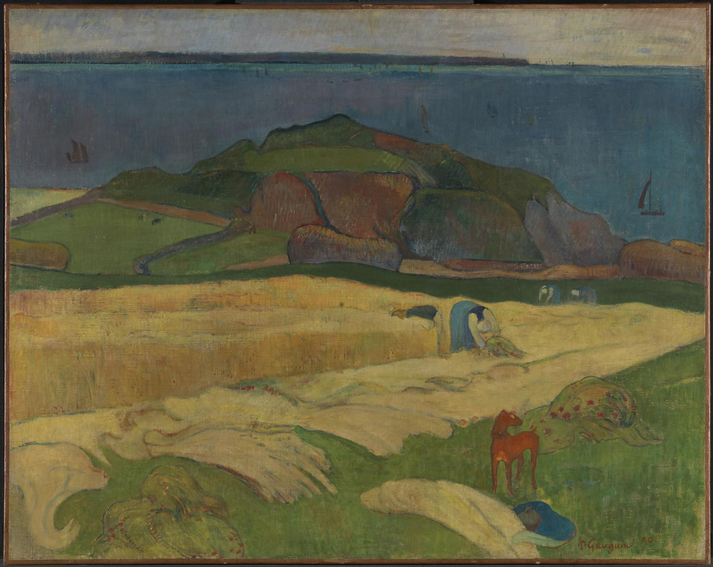 "Paul Gauguin, ""Harvest: Le Pouldu"", 1890, Tate."