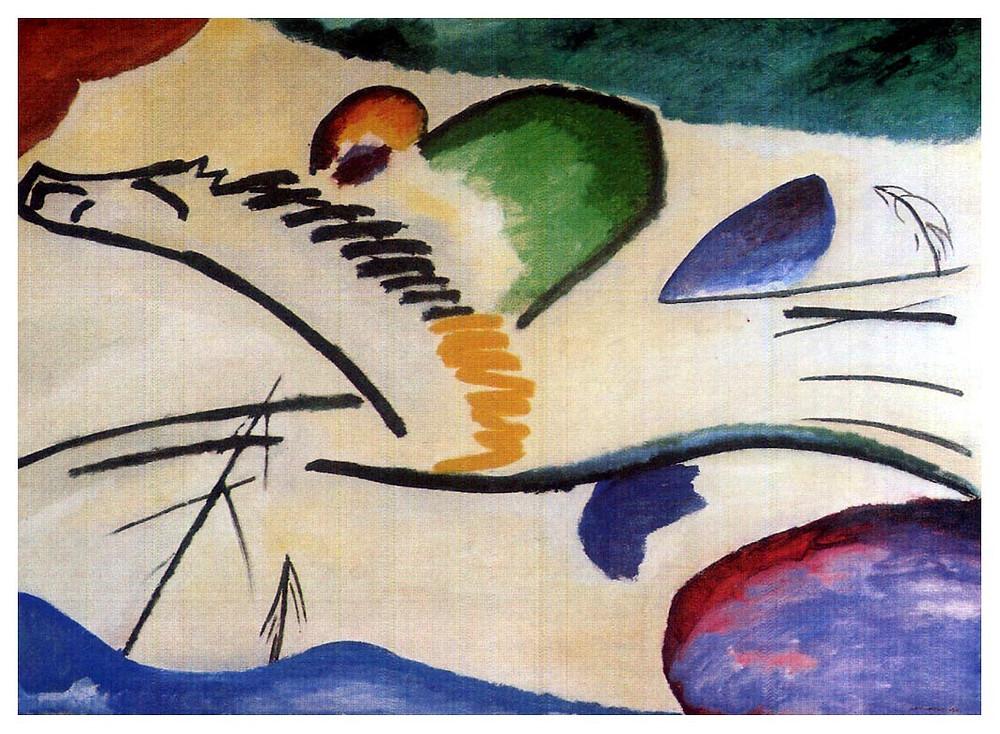 "Wassily Kandinsky, ""Lyrics"", 1911, Museum Bojmans van Beuningen, Rotterdam, Netherlands."