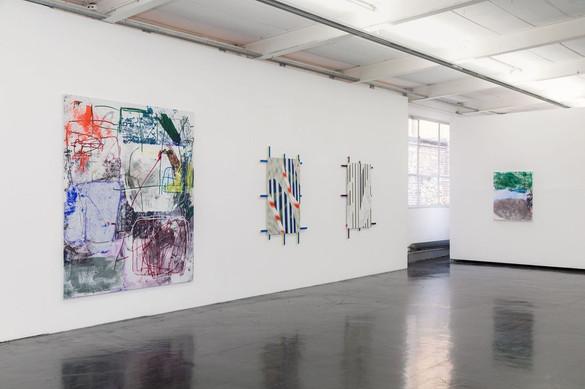 Ina Gerken, Untitled (Bonfire II), 2018; Jonas Maas, Untitled, 2015; Jonas Maas, Untitled, 2015; Ina Gerken, Untitled (Imagine Colours), 2018 (from left to right)