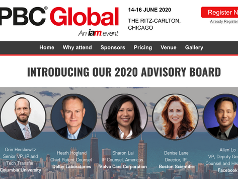 IPBC Global 2020 – The pre-eminent gathering of the world's IP business leaders