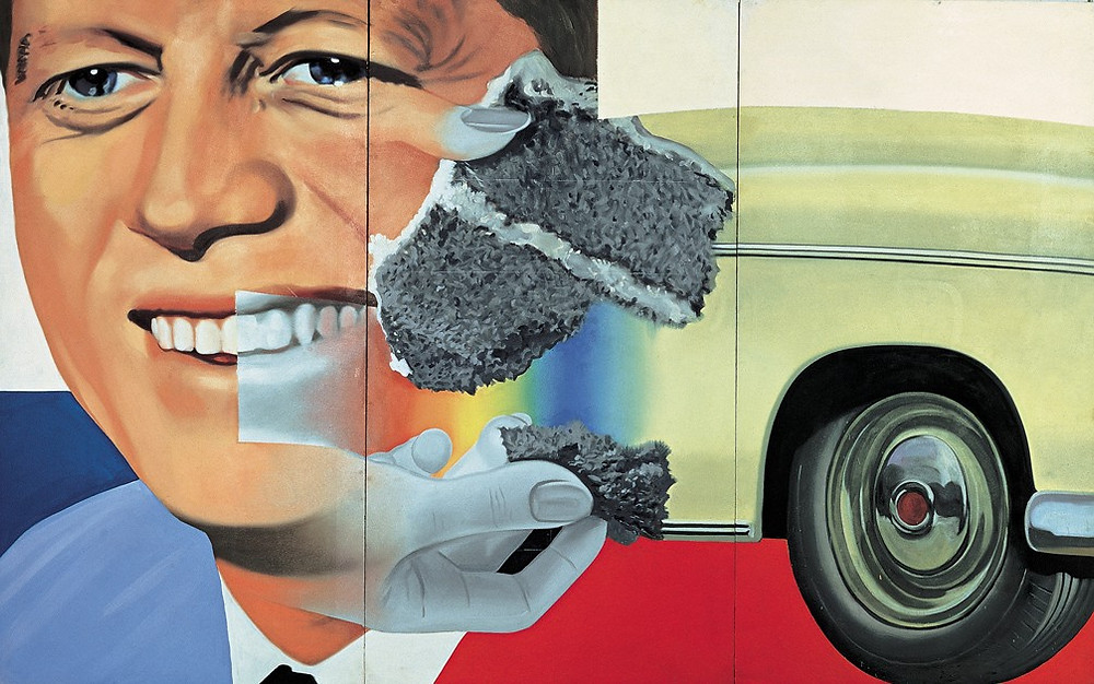 "James Rosenquist, ""President Elect"", 1960/61, Centre Georges Pompidou, Paris."