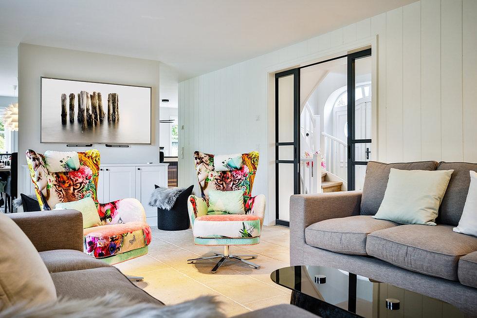 REET & RESIDENCE II | Ihr Luxus-Ferienhaus auf Sylt | ca. 310 qm, 8 Personen + 1 Hund, 4 Schlafzimmer, Luxus-Bäder, großzügiger Wohnraum mit Kamin, XXL-Terrasse, Luxus-Küche, Private Spa mit Sauna, Kamin