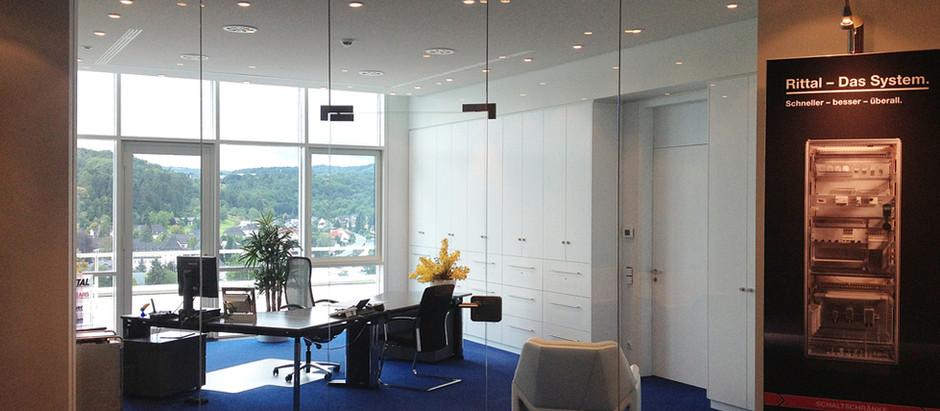 Rittal Herborn · Einscheiben-Systemtrennwand · Interieur-Glas · Trennwandsystem