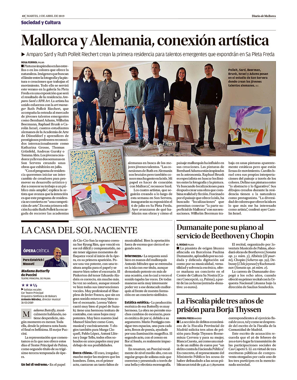 Presse Artikel in Diario de Mallorca