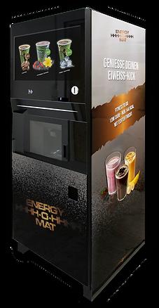 ENERGY-O-MAT | Der weltweit ersten Getränkeautomat für Fitness-Shakes + heiße Kaffee-Klassiker + Iced Coffee Shakes| Das MUST HAVE für Gym, Fitnessstudio, Sportschule, Freizeitanlage, (Sport)Hotel, stationärer Handel, Unternehmen & Co.| Silver Edition