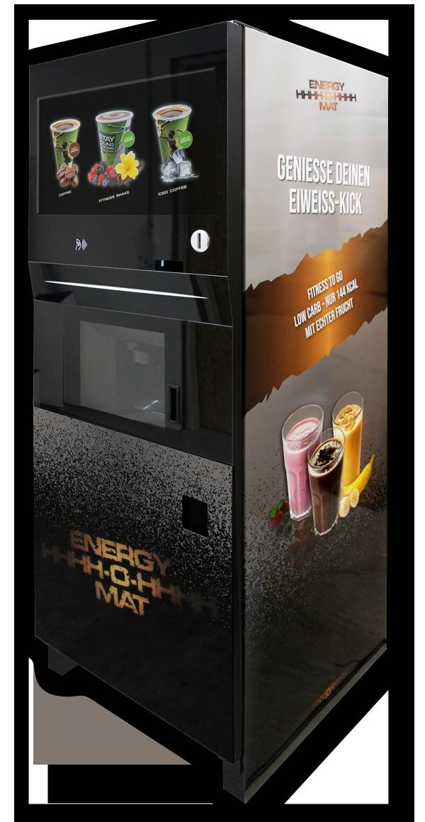 ENERGY-O-MAT: Der einzigartige Getränkeautomat mit dem 3-in-1-System für Heiß- und Kaltgetränke