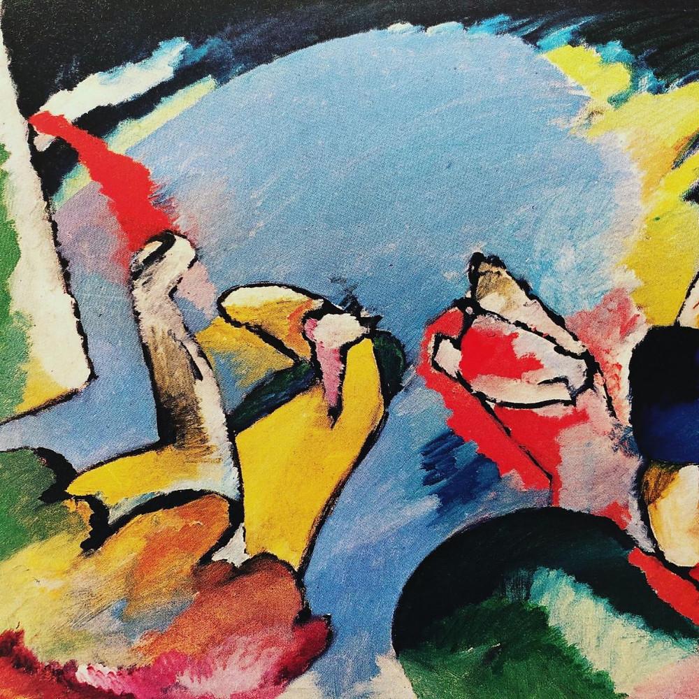 Image: Wassily Kandinsky, Improvisation XIV (Detail), 1910 From Marisa Volpi Orlandini, Kandinsky und der Blaue Reiter, 1988, Plate 15