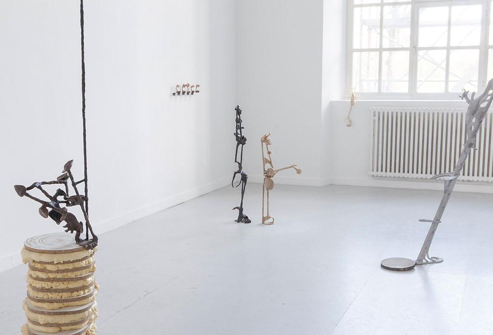 Raumansicht der Abschlusspräsentation, Kunstakademie Düsseldorf, 2019