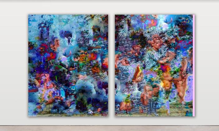 RPR ART, Raphael Brunk, #62697c, 2020, 180x140cm each