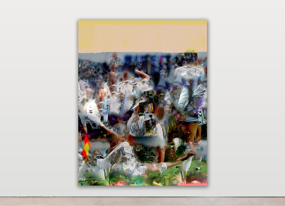 Raphael Brunk, #837c6e, 180 x 140 cm, 2020