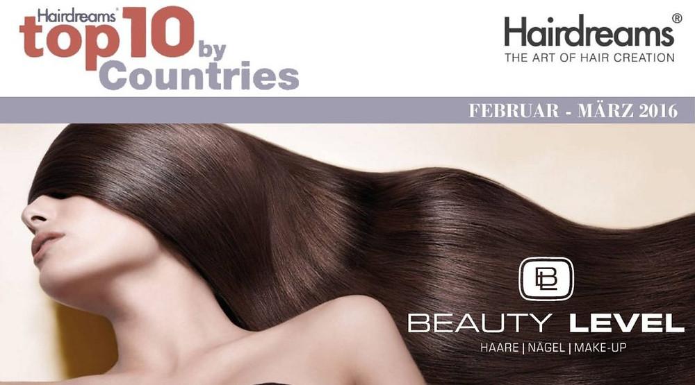 BEAUTY LEVEL Coiffeur – Ausgezeichnet als Hairdreams Top-Salon in der Schweiz (DE) – 8. Platz