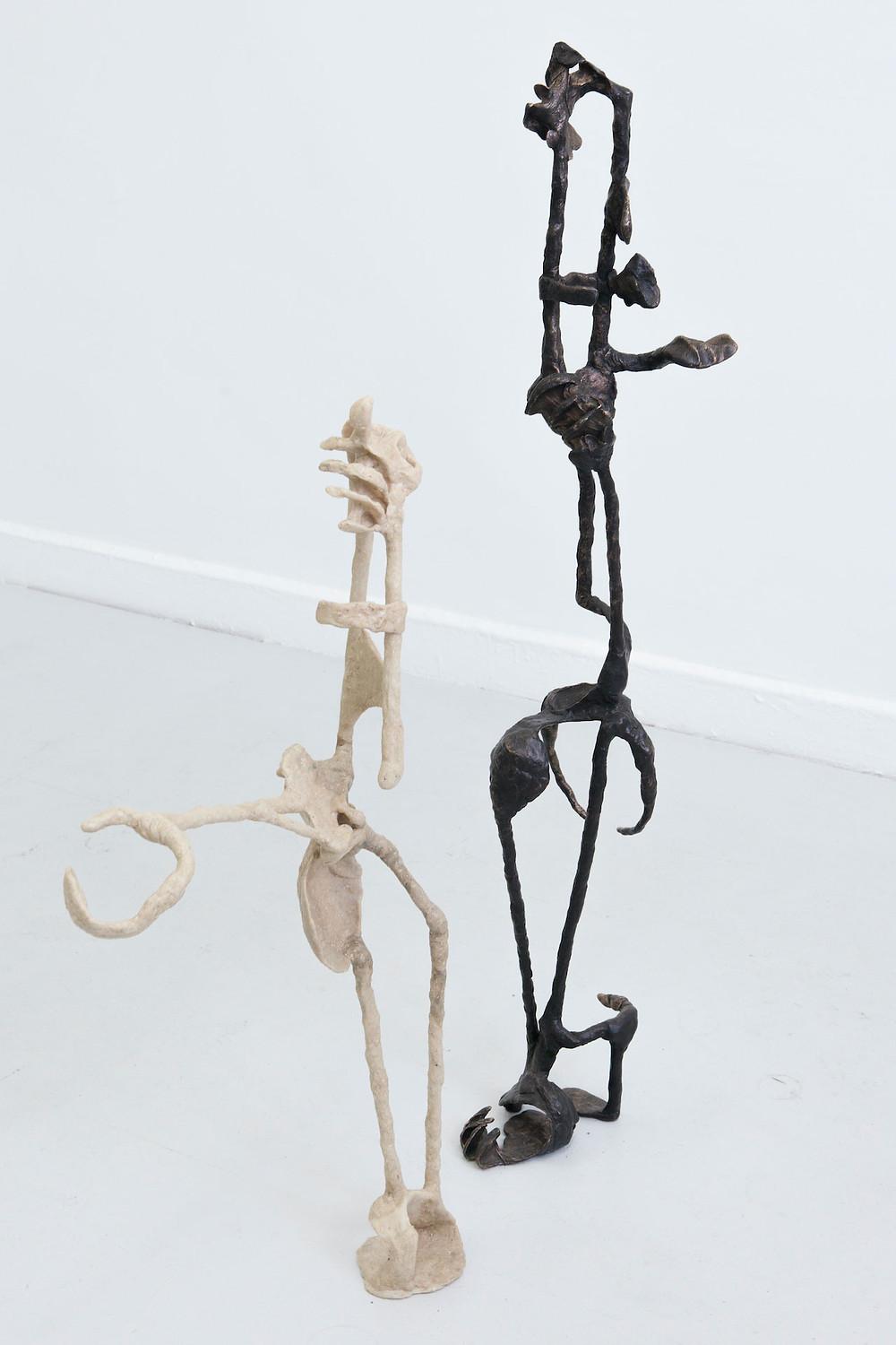 Paul Schuseil, Betrachtungshilfe, 2017; Der Denker eingeschlafen, 2019 (from left to right)