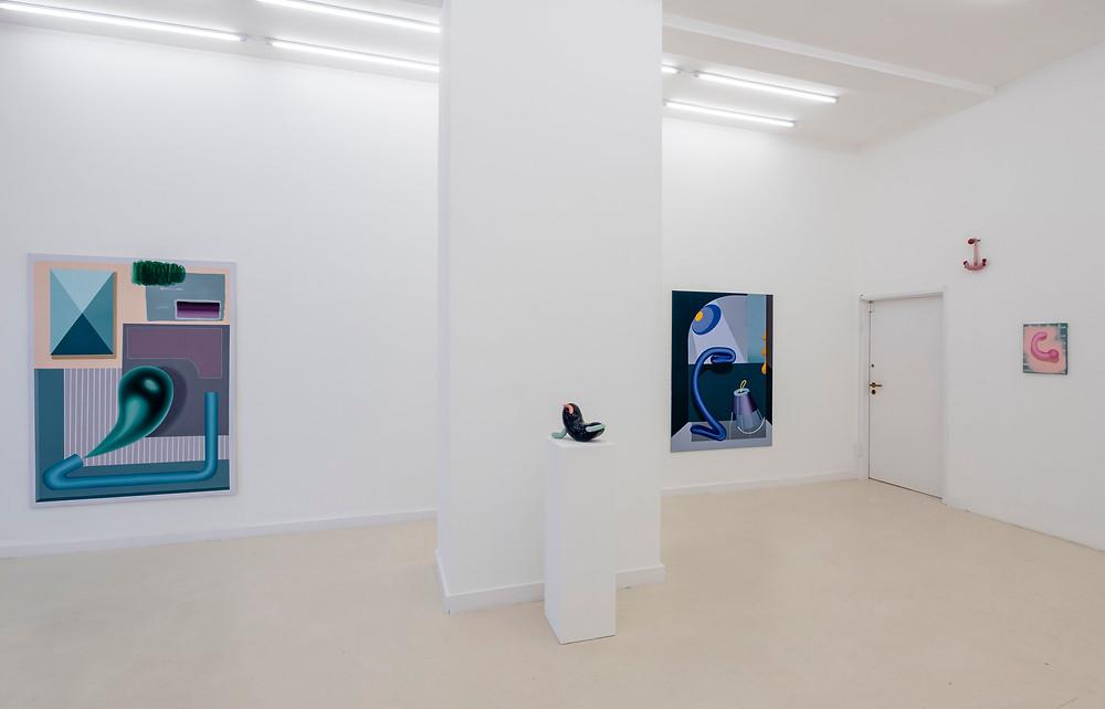 Schierke Seinecke, Ausstellungsansicht mit Arbeiten von Anna Nero