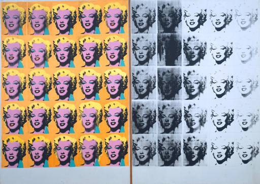 "Andy Warhol, ""Marilyn Diptych"", 1962, Tate Modern, London."