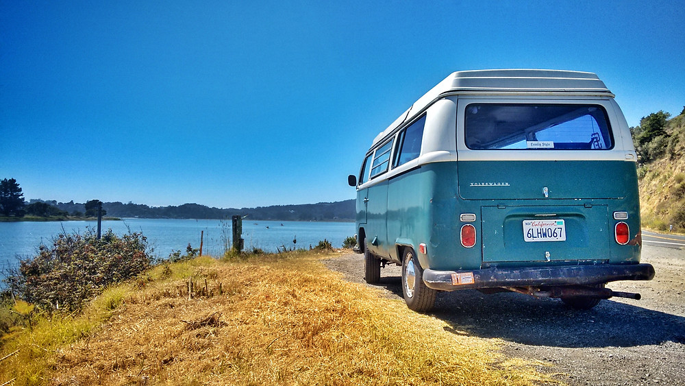VW Campervan Near Lake
