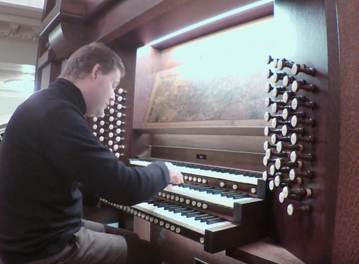 John Robinson selected as a competitor in 2018 Boston Bach International Organ Competition
