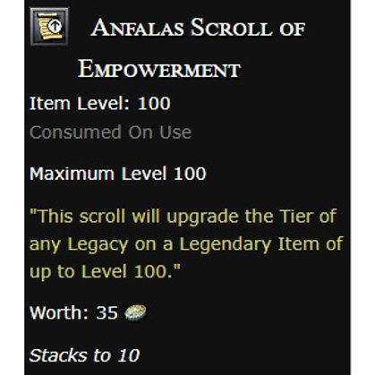 100x Anfalas Scroll of Empowerment - US servers !!! Pre-order!!!
