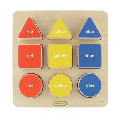 Geometric Peg Board (MasterkidzMK00590) 2yrs+