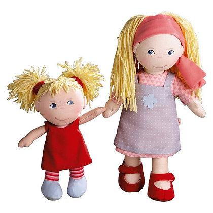 Doll Sisters Lennja & Elin (Haba 300128) 30 cm & 20 cm