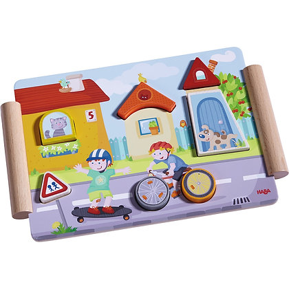 Wooden Puzzle Build & Roll (Haba 301669) 12m+