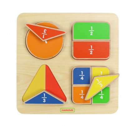 Geometric Fraction Board (Masterkidz MK00545) 2yrs+