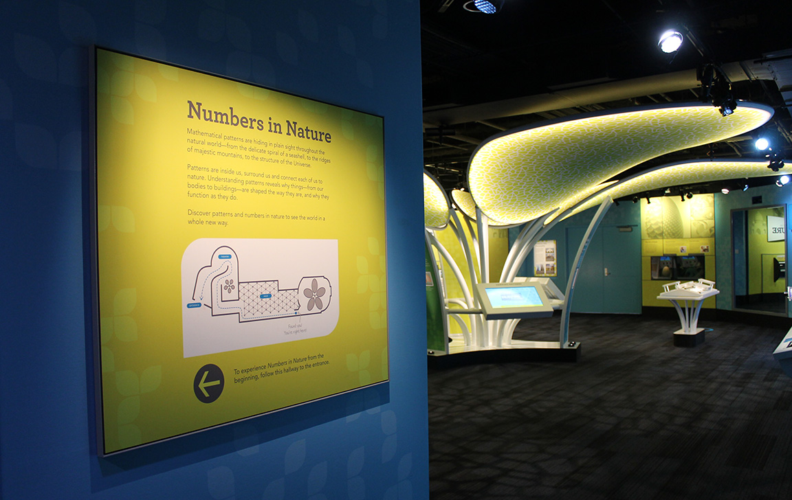 Numbers in Nature Exhibit Map