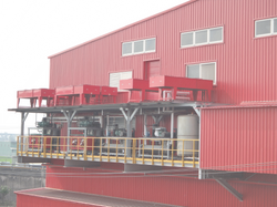 Outdoor of Food Processing Factory