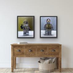 Chrome Storm Trooper & C3PO
