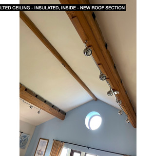 vaulted ceiling - below new roof section