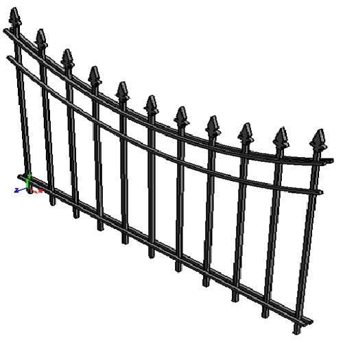 "Забор ""Нью-йорк-обратная арка"""