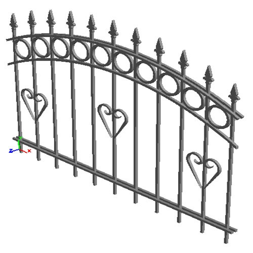 """Забор """"Париж-арка"""""""