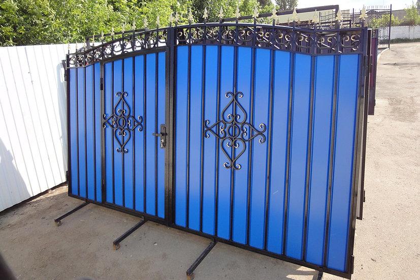 """Ворота со встроенной калиткой """"Классика-арка"""""""