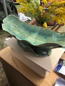 Green platter at Art Fair