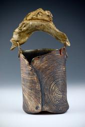 Kohiki vase with driftwood handle