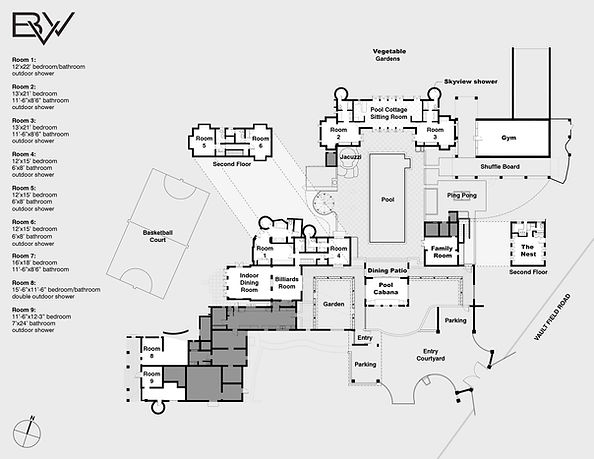A complete floor plan of our villa!