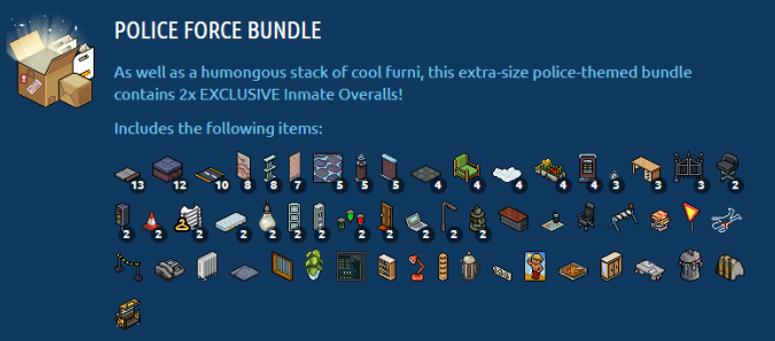 police force bundle items