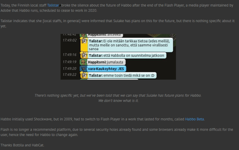 Puhekupla speaks about Habbo's flashplayer.png