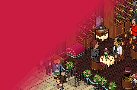 Romance is in the air! At Habbo Hotel