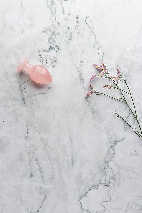 rosa Analplug aus Rosenquarz Yoni Wand Edelstein Kristall