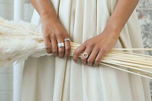 Organic Stacking Ring Silver