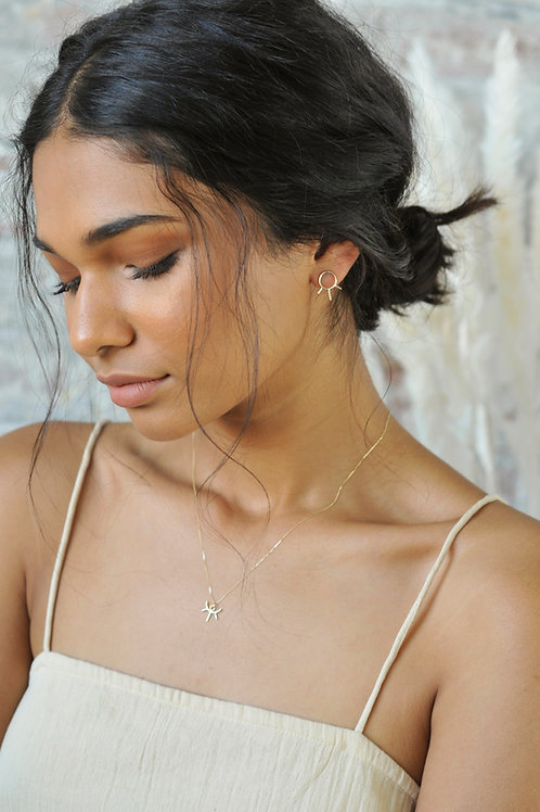 Goldkette Dainty Sun Necklace