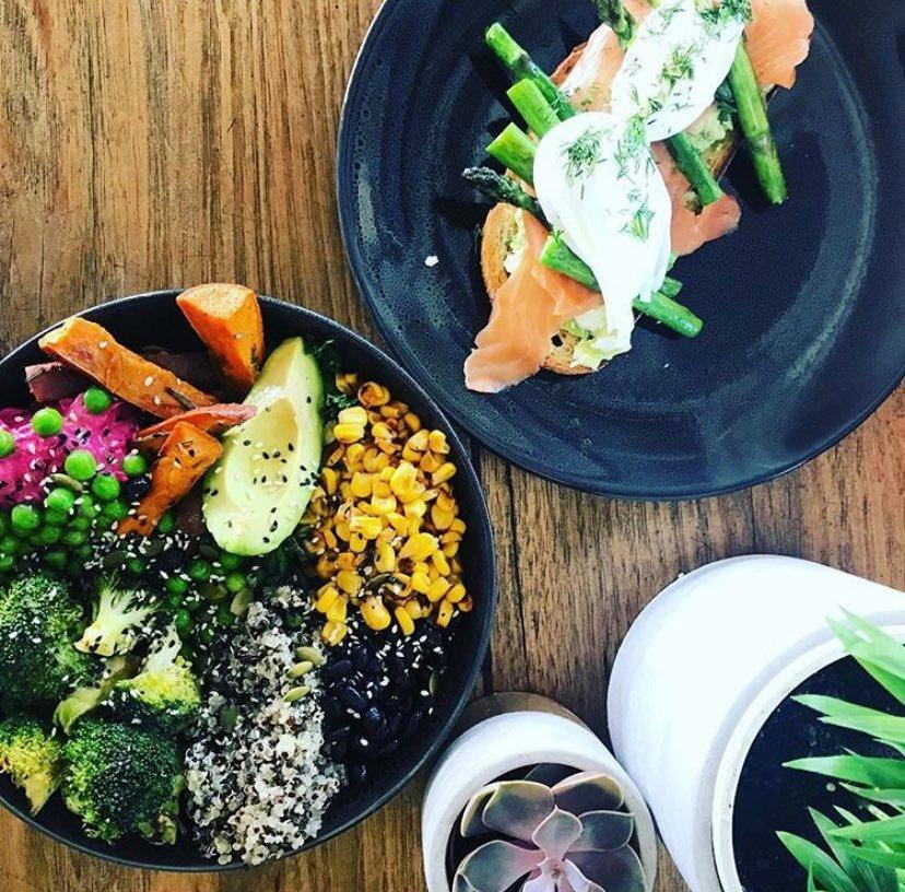 Asparagus and Salmon & Superfood Salad