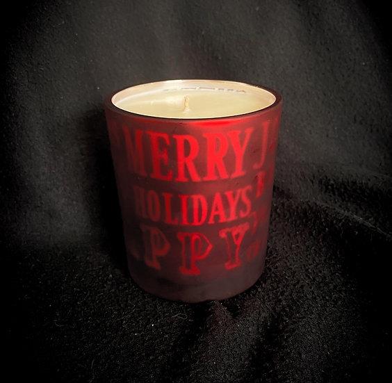 Large Red Christmas Jar
