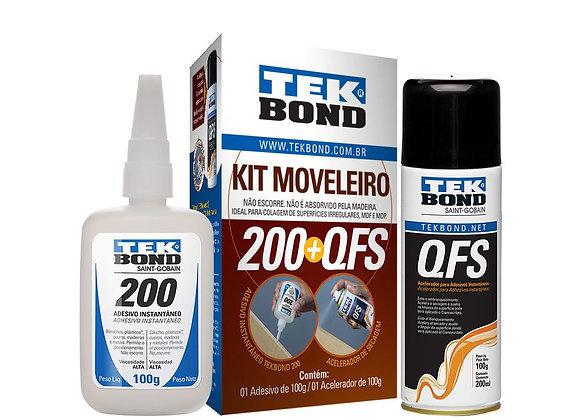 Tekbond Kit Mdf 200 100g A + Qfs 200ml