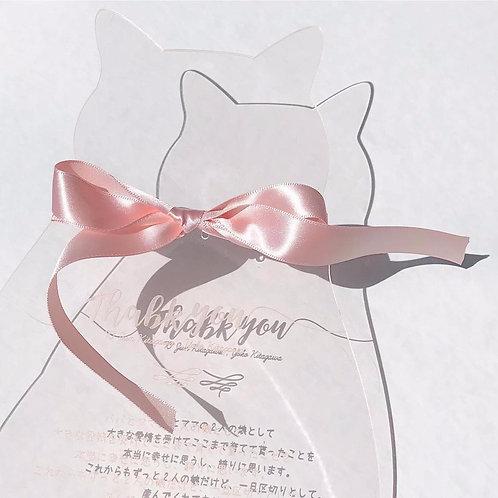猫の結婚証明書[acrylic]