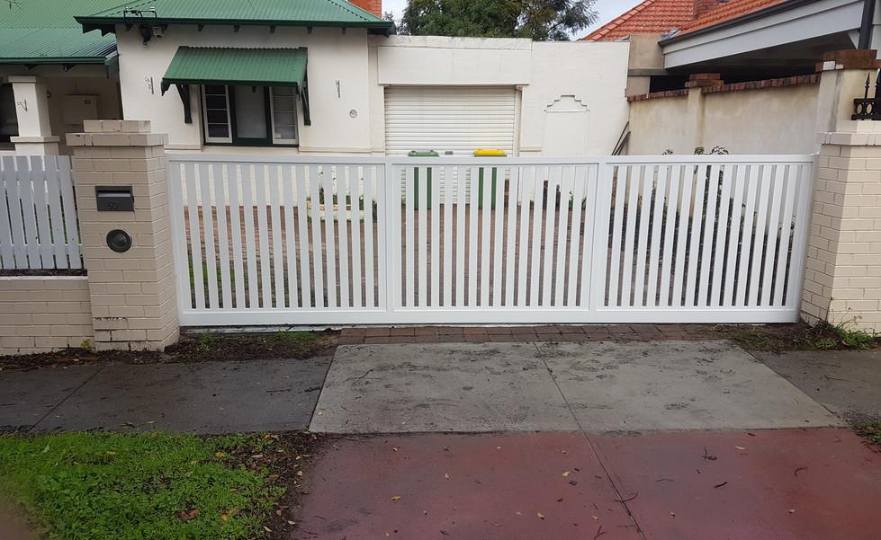 Aluminium Fence - White