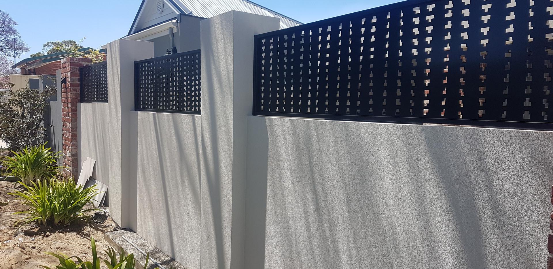 Aluminium Fence - Black