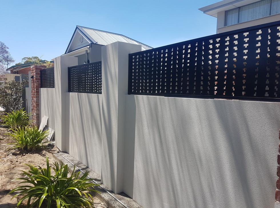 Black Lazer Cut High Fence - Custom made by Classic Aluminium